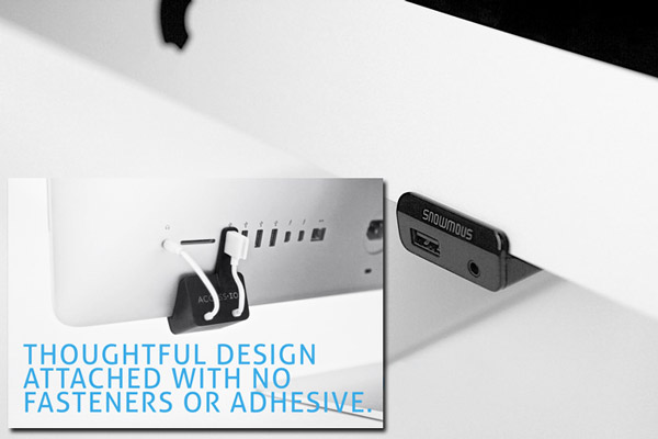 Access Your iMac's Rear USB and Headphone Jack in Front with AccessIO (Kickstarter)
