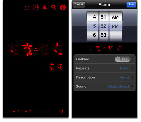 Predator Digital Clock Displays Predator Time on Your iPhone and iPad