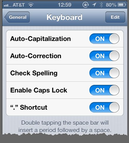 Other text automation tools are available in the Keyboard Settings pane.