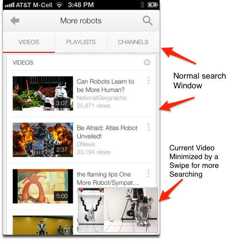 Google Releases YouTube 2.0 for iOS with Picture-in-Picture Search, Playlists