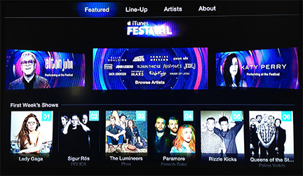 iTunes Festival Comes to Apple TV