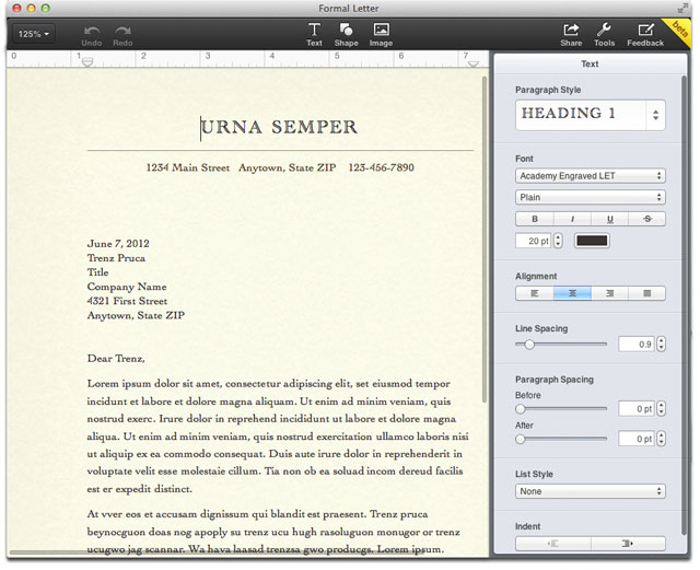 Pages in iCloud