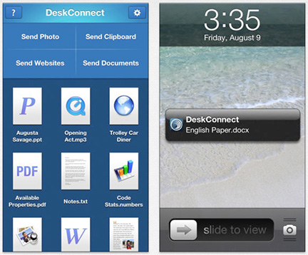 DeskConnect: Dead Simple Mac to iPhone File Sharing