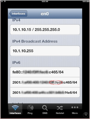 How tu using in iped with ipv6