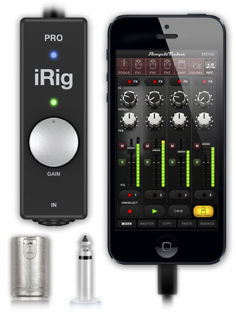 "IK Multimedia Announces iRig Pro for XLR, 1/4"", MDI for iPhone, iPad, Mac"