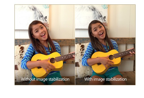 Apple's examples show image stabilization.