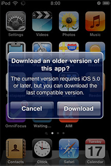 Old iPod touch? No problem. Now you can download compatible app versions.