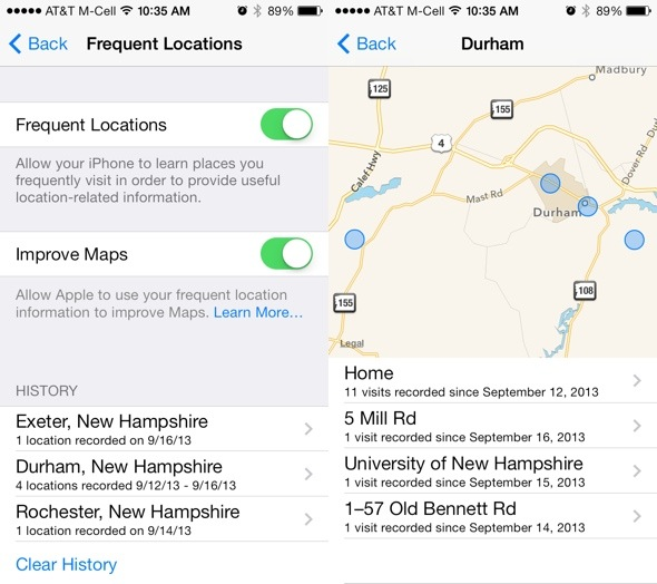 iphone frequent locations 12 new and settings in ios 7 the mac observer 11879