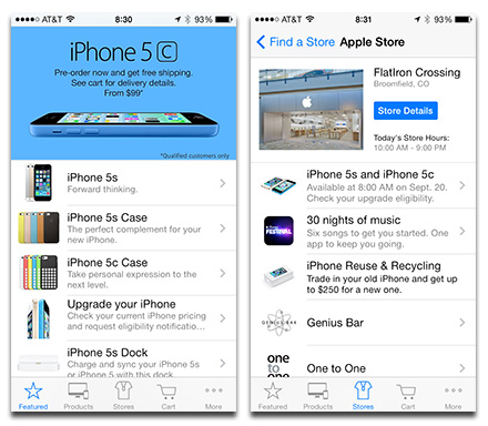 Apple gives the Apple Store app the iOS 7 treatment