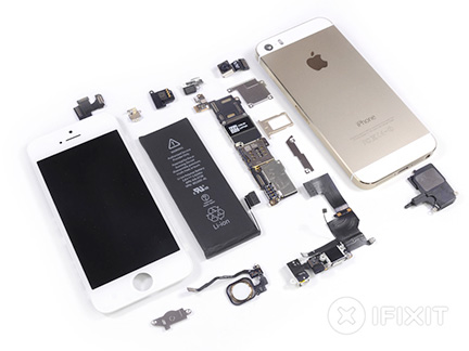 iPhone 5s: Lots of parts, but no M7 chip