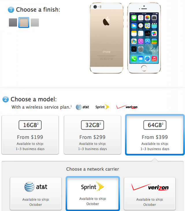 Gold iPhone Availability