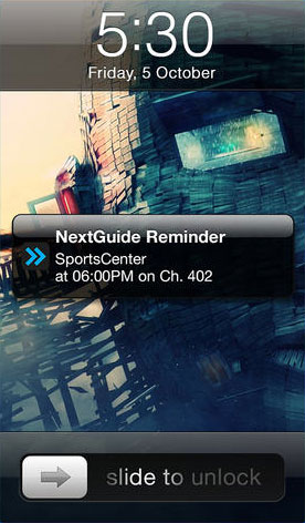 NextGuide Live TV Reminders App Comes to iPhone