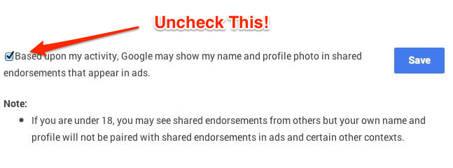 Shared Endorsements Opt-Out