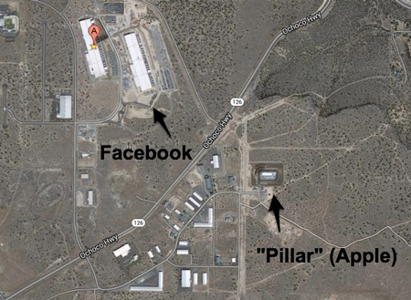 ReadWrite Posts Photos of Apple Data Center in Oregon (Shot from Facebook's Roof)