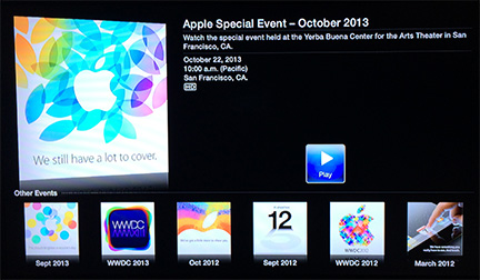 Apple adds media event streaming channel to Apple TV