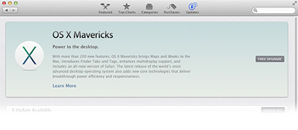 OS X Mavericks available as a free download now