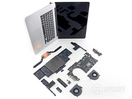 Apple packs the inside of the MacBook Pro tight