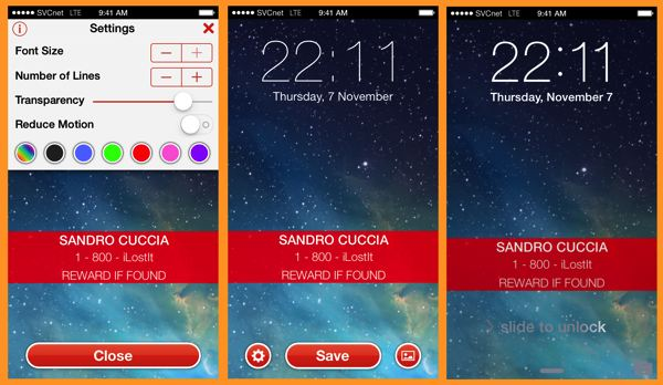Three iPhone screens showing the creation of a personalized Lock screen