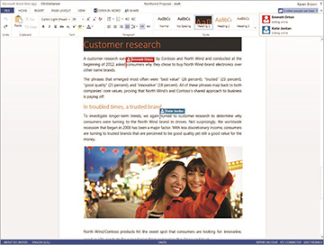 Microsoft's Web-based Office Suite gets real time collaboration support