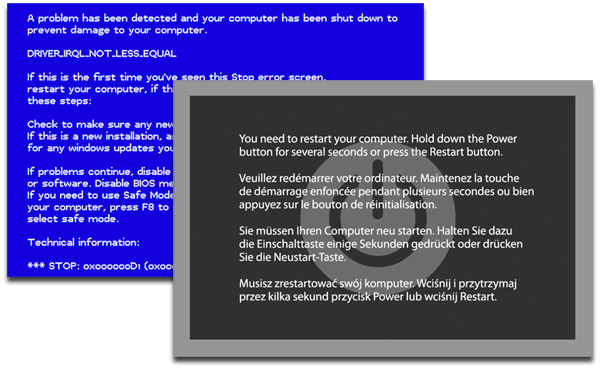 Oh Noes! This Site Fakes a Kernel Panic! Now I Can't Work!