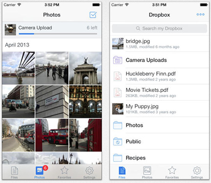Dropbox 3 gets an iOS 7 facelift and AirDrop file sharing support