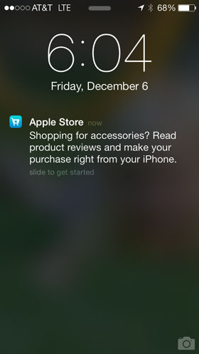 Apple Store iBeacon Notification