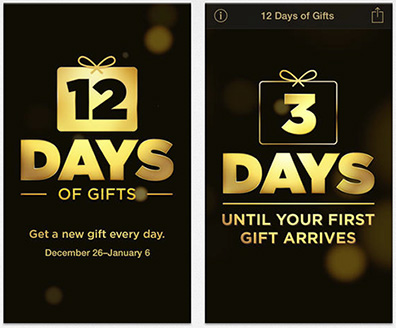 Apple's 12 Days of Gifts for iPhone Now Available in US