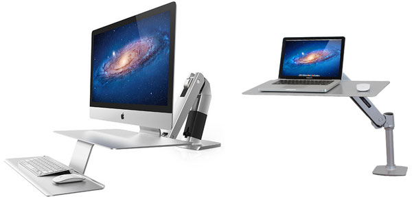 WorkFit Sit-Stand Workstations Designed for iMac and MacBook