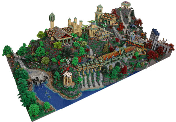 Rivendell from The Lord of the Rings built from 200,000 LEGOs