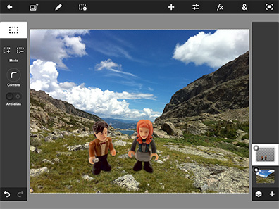 Photoshop Touch lets you mix elements from multiple images, and more