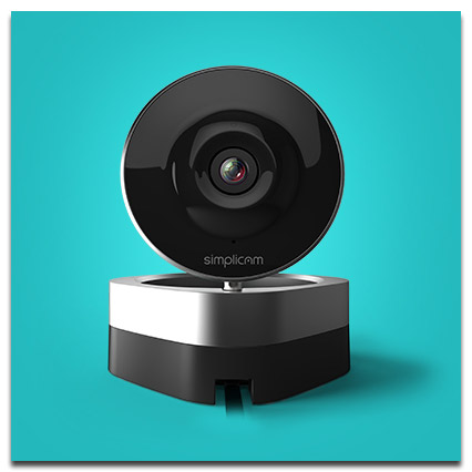 Simplicam Home Surveillance - Facial Recognition, Streaming to PC/Mac and iOS Devices