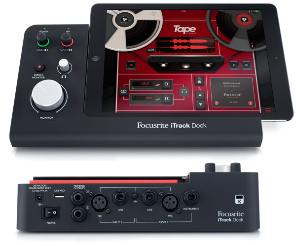 iTrack Dock for iPad - a Hardware Dock, Control Surface, Audio Interface