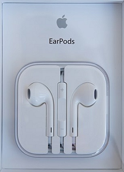The Apple EarPods retail package