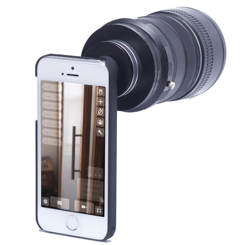 TURN-I-KIT iPhone Lens Adapter on Kickstarter for Canon or Nikon/Nikkor Lenses