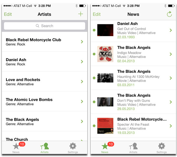 Get News and Push Notifications for Your Favorite Bands with Artist Radar
