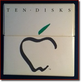 The original box of Apple floppy disks for the Mac