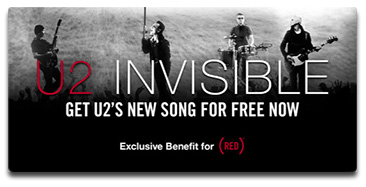 Download U2's Invisible for Free, Money goes to (RED)