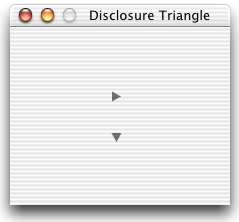 A OS X Finder window depicting two Disclosure Triangles.
