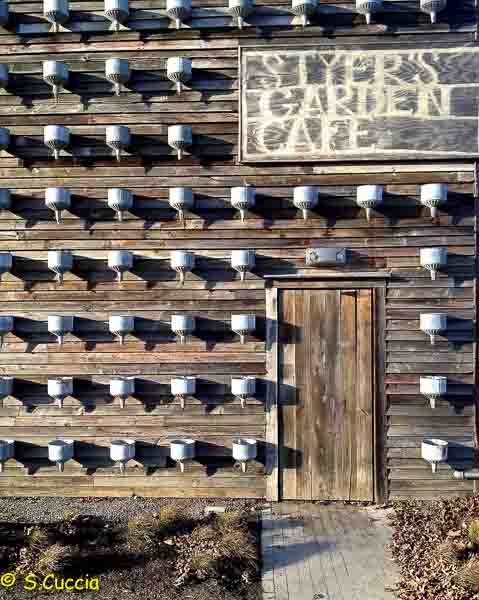 A wooden barn doorway