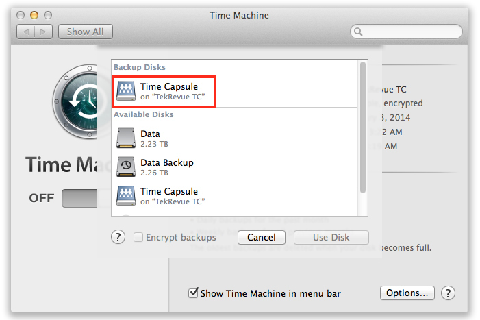 How to add a time capsule or airport extreme to an existing time machine select disk cheapraybanclubmaster Images