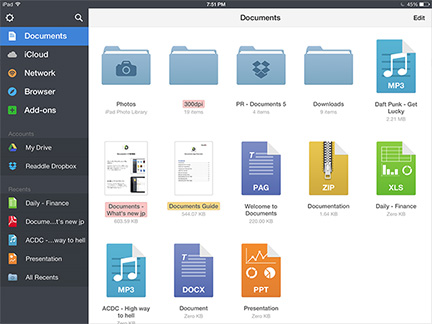 Documents 5 Brings File Management to iPhone, iPad