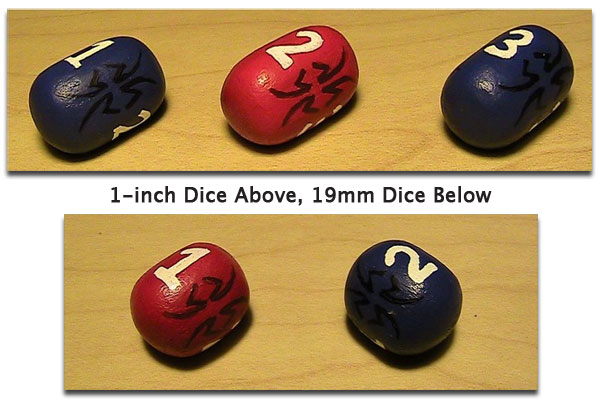 Real Three Sided Dice That Actually Roll - You Know, For Gamers