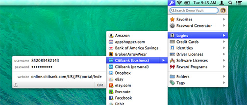 1Password 4.2 gets a beefed up mini viewer for your Mac's menu bar