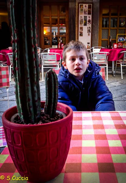 Photo of a boy sitting at a dinner table