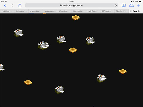 Flying Toasters Screen Saver Recreated in CSS