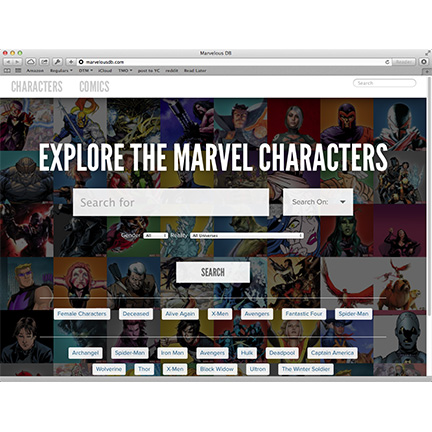 MarvelousDB searches Marvel Comics Data, Say Goodbye To Your Afternoon