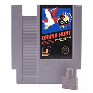 Concealable Entertainment Flask: Get Your 8 Bit Drink On!