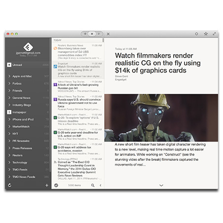 Reeder 2 for the Mac available as a public beta