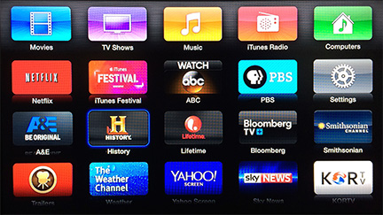 Apple TV adds A&E, History, Lifetime channels