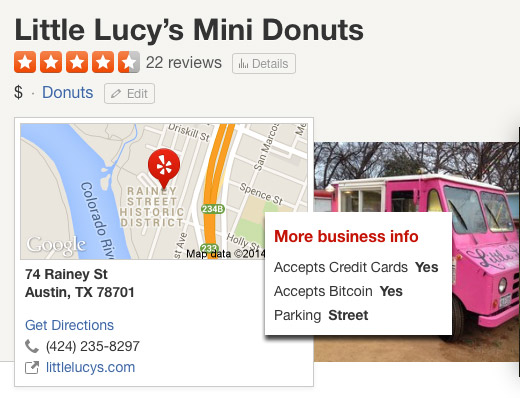 Yelp Adds 'Accepts Bitcoin' For Business Listings